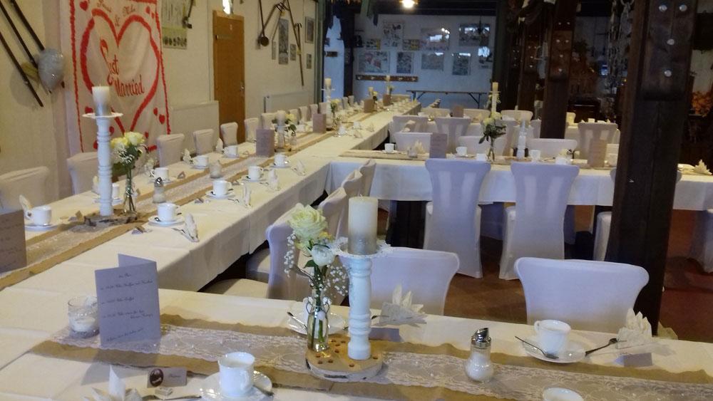 Der Röhlsche Hof - Bildungs- und Erlebnisbauernhof in Wallwitz in Sachsen-Anhalt - Hochzeit DEKO