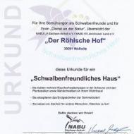 Der Röhlsche Hof - Bildungs- und Erlebnisbauernhof in Wallwitz in Sachsen-Anhalt - Zertifikat